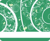 The curl. Background with the green and white Royalty Free Stock Image