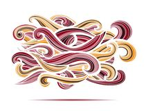 Curl abstract pattern with multicolored waves Royalty Free Stock Photography
