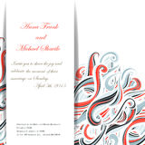 Curl abstract wedding card with multicolored waves Stock Photography