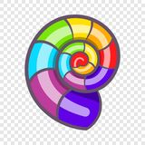 Curl in colours of LGBT icon, cartoon style. Curl in colours of LGBT icon in cartoon style isolated on background for any web design stock illustration