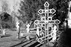 Curl cross on cemetery Stock Images