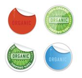 Curl eco labels emblems symbols set Stock Photo