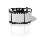 Curl film strip. On the white background Royalty Free Stock Photo