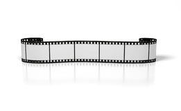 Curl film strip. On the white background Stock Photos