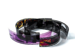 Curl film strips Stock Images