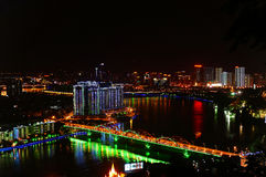 The night scenery of the liuzhou. Liuzhou, located in the north-central part of the guangxi zhuang autonomous region, the terrain is 'sanjiang snap, embrace the Stock Images