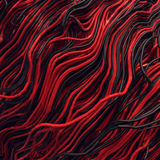 Curl noise flow abstract colored lines. Very shallow depth of field. 3D rendering Stock Photo
