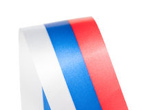 Curl of Russian flag. Isolated on white background royalty free stock images