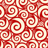 Curl seamless pattern Royalty Free Stock Images