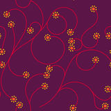 Curl Small Dot Flower Seamless Pattern Hot Color Stock Photo
