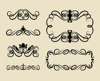 Curl Swirl Ornament Decorations Royalty Free Stock Images