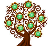 Curl tree with flower buttons Stock Image