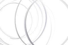 Curl white abstract isolated background Royalty Free Stock Photos
