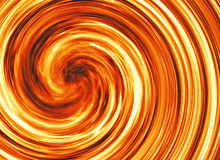 Curled bright explosion fire Royalty Free Stock Images