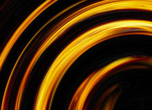 Curled bright explosion flash on black backgrounds Stock Photos