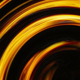 Curled bright explosion flash on black backgrounds Royalty Free Stock Photos