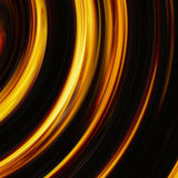 Curled bright explosion flash on black backgrounds Stock Image
