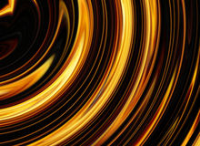 Curled bright explosion rays on black backgrounds Stock Image