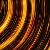 Curled bright explosion rays on black backgrounds Stock Images