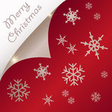Curled Christmas Paper Royalty Free Stock Photography