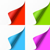 Curled colored corners Royalty Free Stock Photography
