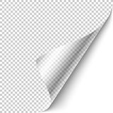 Curled corner design element Royalty Free Stock Photo