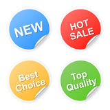Curled corner shopping labels Royalty Free Stock Image