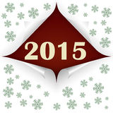 Curled corners 2015. Four curled corners for happy new year and 2015. Vector illustration Stock Images