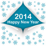 Curled corners 2014. Four curled corners with text happy new year and 2014. Vector illustration Stock Images