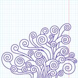 Curled doodles Royalty Free Stock Photography