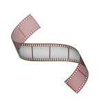 Curled film. Film stripe on transparent background Royalty Free Stock Photography