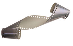 Curled film ribbon Royalty Free Stock Images