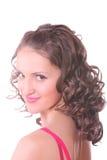 Curled girl photo Stock Photos