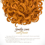 Curled hair background Royalty Free Stock Images