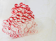 Curled heart Stock Photo