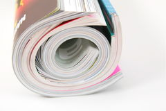 Curled magazines Royalty Free Stock Photos