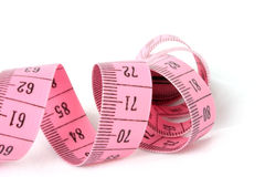 Curled Measuring Tape Royalty Free Stock Photos