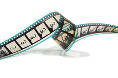 Curled Movie Film Strip Stock Photo