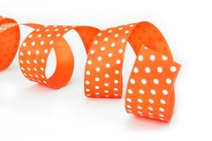 Curled orange ribbon Royalty Free Stock Image