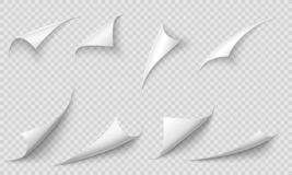 Free Curled Page Corner. Paper Edges, Curve Pages Corners And Papers Curls With Realistic Shadow Vector Illustration Set Royalty Free Stock Photo - 152208575