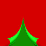 Curled page in the form of the Christmas tree  illustration Stock Images