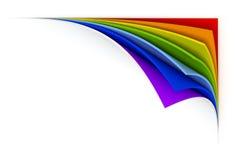 Curled rainbow paper
