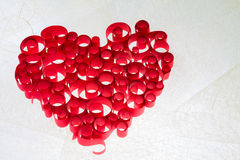 Curled Red heart Stock Photography