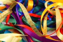 Curled ribbons of different colors Stock Photography