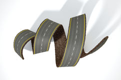 Curled Road Concept Royalty Free Stock Photography