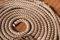 Curled rope detail Stock Photography