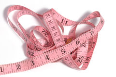 Curled tape measure Stock Image