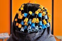 curlers fotografia de stock