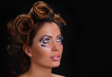 Curlers coiffure Stock Images