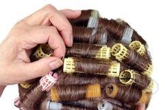 curlers włosy fryzura Obraz Stock
